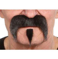 """Set moustache et bouc """"Far West"""" - Noir"""