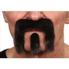 """Set moustache et bouc """"Seventies"""" - Noir"""