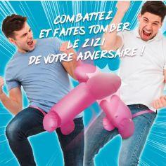Jeu de combat de zizi gonflable