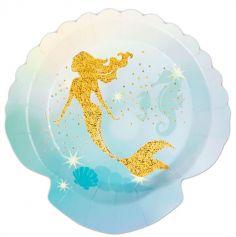 assiettes-anniversaire-sirene-paillettes | jourdefete.com