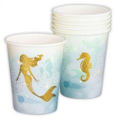 gobelets-anniversaire-sirene-mermaid | jourdefete.com
