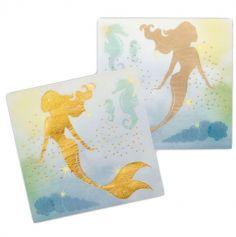 serviettes-papier-sirene-holographique | jourdefete.com