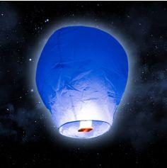 """Lanterne volante """"ballon"""" - Bleu Roi"""