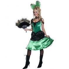 Déguisement Danseuse Cabaret Robe Verte Femme