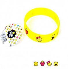 Bracelet en silicone pour enfant Collection Smiley - 16 cm