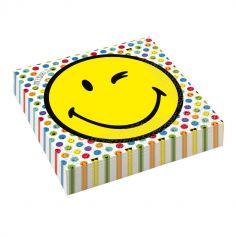 serviettes-papier-smiley-33cm-emoticone|jourdefete.com