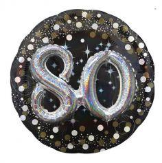 ballon-argenté-noir-80ans-anniversaire   jourdefete.com
