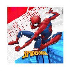 serviettes-compostables-spiderman-hero-3-plis|jourdefete.com