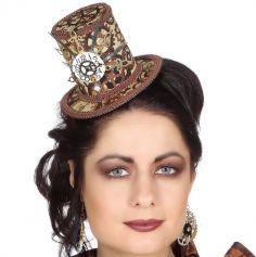 Accessoire de déguisement - Mini Chapeau - Rouages Steampunk | jourdefete.com
