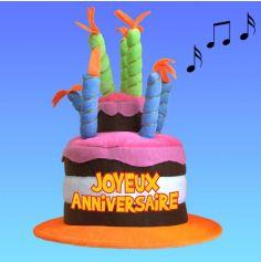 chapeau gateau d'anniversaire musical