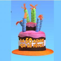 Chapeau Anniversaire Musical 50 ans
