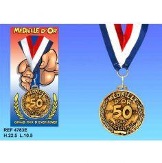 Médaille d'Or Anniversaire 50 Ans