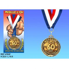 Médaille d'Or Anniversaire 60 Ans