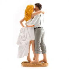 Sujets mariés à plage - 16cm