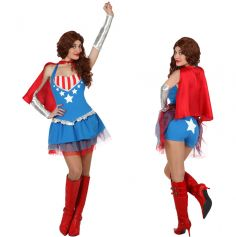Costume de super héroïne - Taille au choix