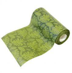 ruban-table-feuilles-tropiques-bananier | jourdefete.com
