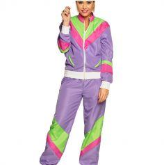 deguisement jogging violet des années 80 pour femme  jourdefete.com