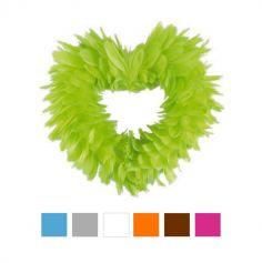 """Petite suspension """"coeur"""" en plumes - Coloris au choix"""