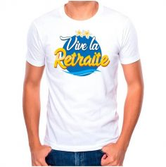 T-shirt à dédicacer Retraite - Modèle au Choix