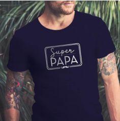 """T-shirt pour homme """" Super Papa """" - Taille au Choix"""