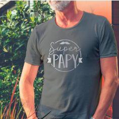 """T-shirt pour homme """" Super Papy """" - Taille au Choix"""