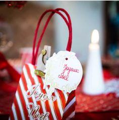 6 Sacs Joyeux Noël Rouge Blanc et Or