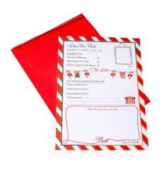 Lettre au Père Noël avec Enveloppe - Tradi Candy - Rouge, Blanc et Doré
