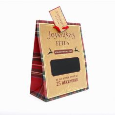"""Sac Cadeaux pour Noël - Joyeuses Fêtes - """" Livraison spéciale... """" - 22 x 19 cm"""