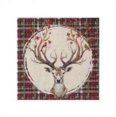 serviettes-noel-ecossais-decoration-table | jourdefete.com