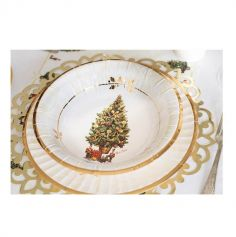 Lot de 8 assiettes en carton - Magic Christmas - 27 cm