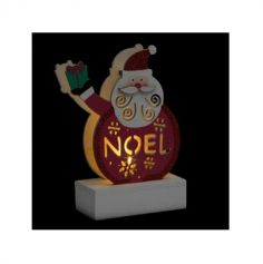 decoration-lumineuse-led-pere-noel-table | jourdefete.com