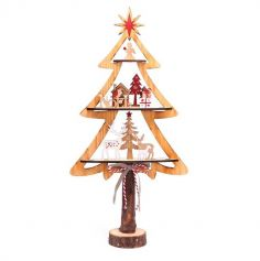 sapin-noel-decoration-bois-table | jourdefete.com