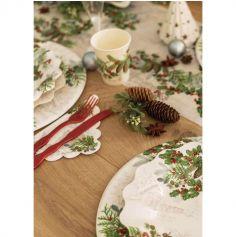 8 Assiettes en papier - Biodégradables - Winter Holidays - 27 cm