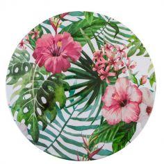 1 Assiette Tropicale - Fleurs | jourdefete.com