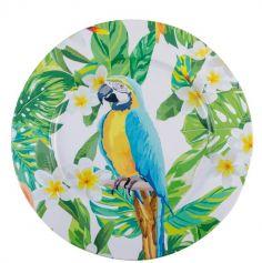 1 Assiette Tropicale - Perroquet | jourdefete.com