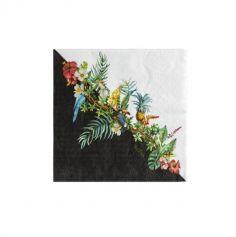 16 serviettes jungle tropical | jourdefete.com
