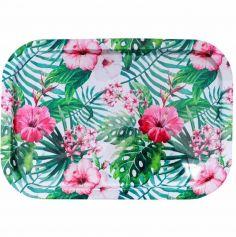 plateau-decoration-tropical-fleurs|jourdefete.com