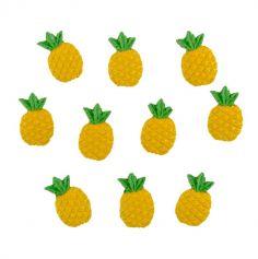 Sachet de 10 Ananas Adhésifs - Tropical | jourdefete.com