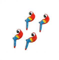 Sachet de 10 Perroquets Adhésifs - Tropical | jourdefete.com
