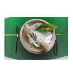 Lot de 24 ronds de serviette en bambou