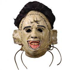 Masque Intégral en Latex Leather Face - Massacre à la Tronçonneuse ©