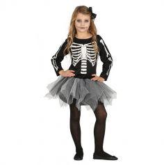 Déguisement de Squelette avec Tutu Enfant - Taille au Choix