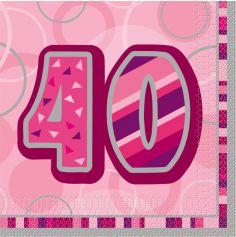 serviette en papier anniversaire 40 ans
