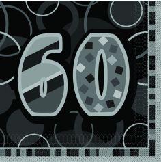 serviette en papier anniversaire 60 ans