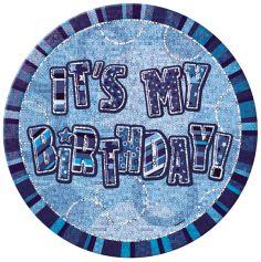 badge anniversaire glitz bleu