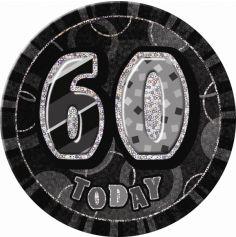 badge anniversaire glitz noir 60 ans