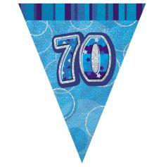 fanion anniversaire 70 ans bleu