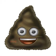Ballon à l'hélium Emoji poop géant