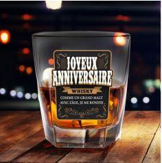 Verre à Whisky - Joyeux Anniversaire