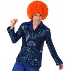Veste Disco Bleu Brillant Homme